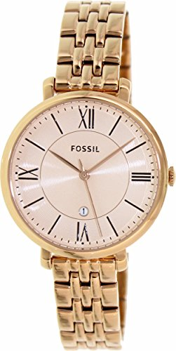 Fossil Women's ES3435 Jacqueline Rose Gold-Tone Stainless Steel Watch